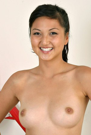 Asian amateur Sable showing nice natural pair of tits and spread beaver