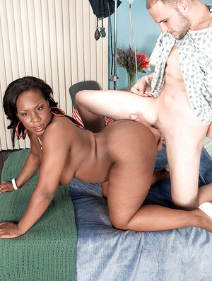Black chick Morgan Cummings offering huge black ass for fucking