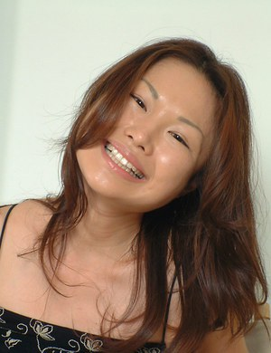 Cute Oriental first timer Lilianna baring small tits and hairy pussy