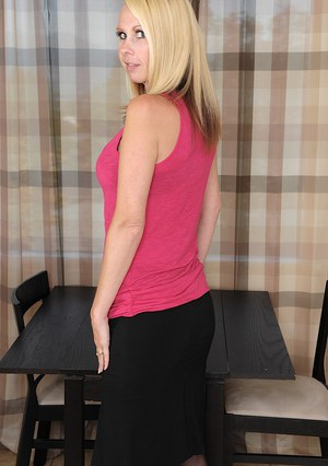 Blonde MILF over 30 Anita Blue flaunting large all natural breasts  1060897