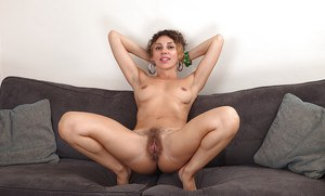 European mom French Chloe stretching labia lips to expose pink cunt