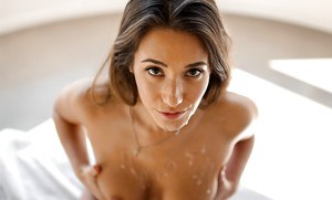 Hot Asian pornstar Eva Lovia having trimmed snatch fingered and fucked