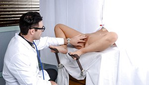Busty MILF pornstar Cherie Deville fucking glasses wearing gyno doctor