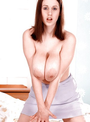 Amateur red head Nicole Peters squeezes her boobs and spreads hairy kitty