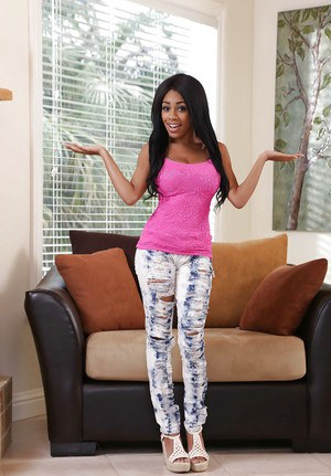 Ebony teen with amazing naturals Brittney White full nude solo