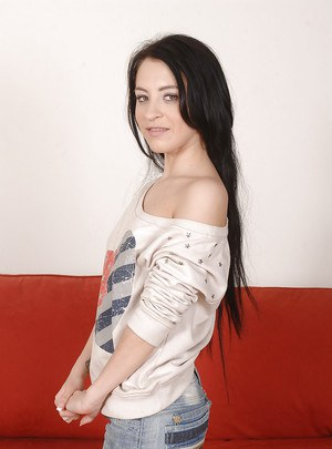 Black-haired teen Sandra Luberc is riding on the long dick so sexy  188846