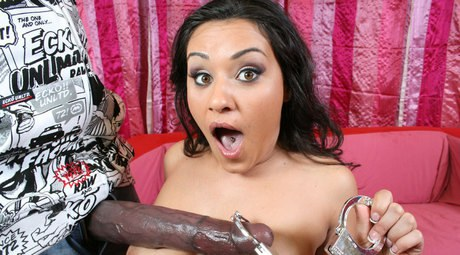 Latina babe Charley Chase with enormous titties hammers with a bukkake