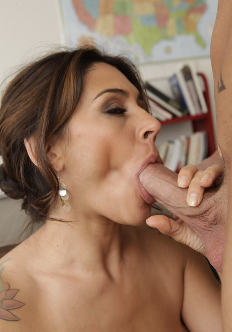 Lovely latina instructress with sizeable rack lures and hammers her coed