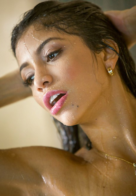 Wonderful small-tit young-lady Veronica Rodriguez is groping her wet beaver