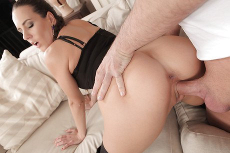 Euro chicky Mea Melone acquiring arse cork lodged into bunghole ahead giving bj