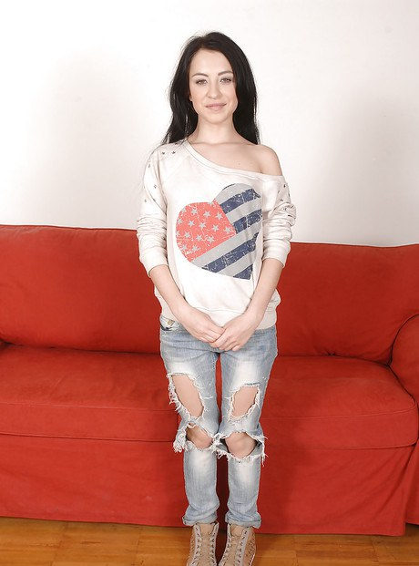 Black-haired teen Sandra Luberc is riding on the long dick so sexy  188906