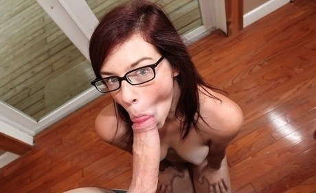 Inexperienced Aubrey James gathers her glasses off for a facial cumshot subsequently a Bj