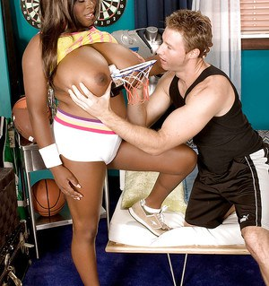Black bbw with huge tits Mianna Thomas gets stuffed with hard man meat