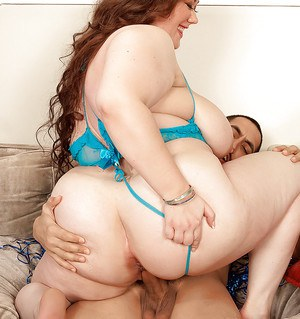 Horny fatty in blue lingerie Lilli Blue drilled hardcore right in her tight pussy