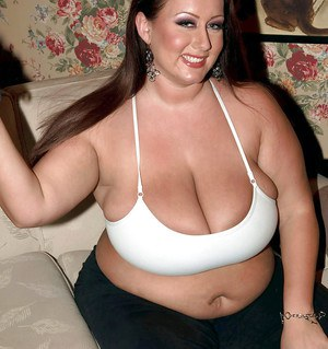Chubby hotties have their fat tits exposed at the private topless party