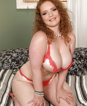 Redheaded slut Contessa Rose gets her fat boobs and tight cunt fucked hard