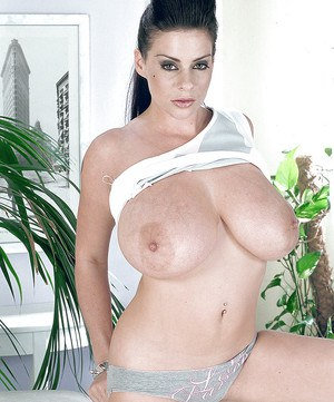 Stunning giant hooters of hairy bushed MILF Linsey Dawn McKenzie.