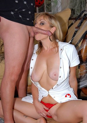 Reality Halloween fuck with busty milf in nurse's uniform