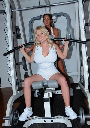 Milf sport big titted workout ends up with some hardcore sex