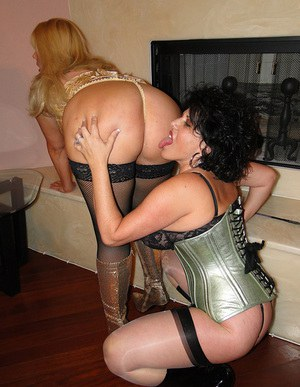 Classy mature lesbian bitches covered in sexy lingerie got really naughty and started licking their hungry pussies wildly.