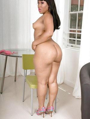 Luscious Louis is a hot ebony fatty who loves showing off her large chocolate ass.
