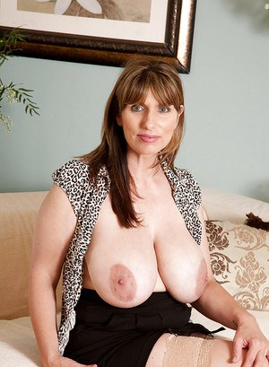 Busty bbw mature Josephine James goes topless and exposing her yummy clit