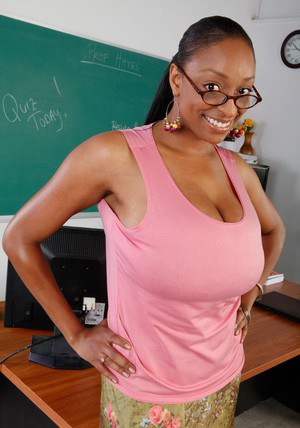 Hot ebony MILF teacher Carmen Hayes is a smoking hot babe.