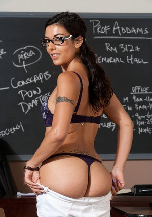 Lou Charmelle � the sexiest schoolgirl in glasses of all times