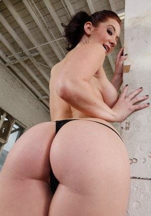 Mouthwatering big ass of Jayden Jaymes getting exposed on cam