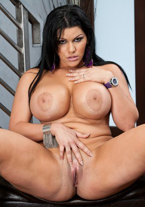 Latin BBW Angelina Castro teasing you with her bare curves
