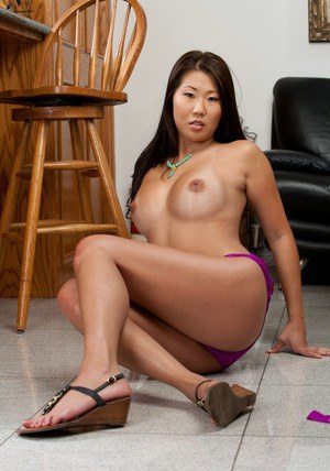 Hot asian wife Beti Hana stripping from sexy lingerie and posing solo