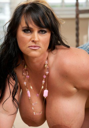 BBW wife Indianna Jaymes stripping and squeezing big round breasts