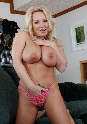 Sexy mature wife Rachel Love spreading and fingering moist pussy