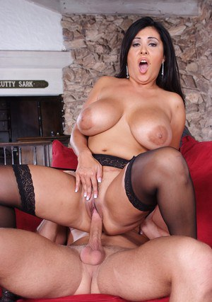 Mature latina in stockings Jaylene Rio gets her fatty tits jizzed