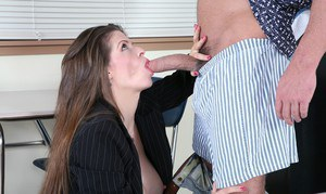 Horny teacher June Summers gets her MILF pussy stuffed with hard meat