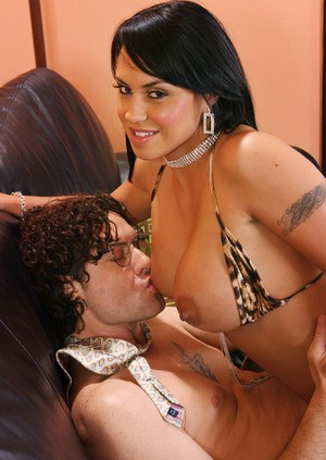 Latin brunette Mariah Milano stripped from leopard bikini and fucked