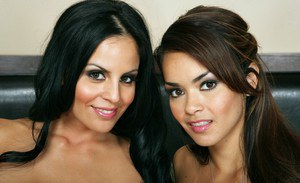 Hot lesbian wife Daisy Marie playing with her stunning girlfriend