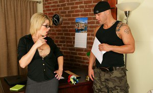 MILF teacher Brooke haven gets her shaved pussy fucked by a stud