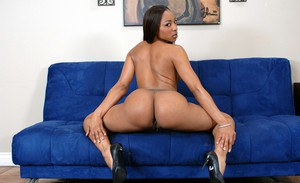 African wife Roxy Reynolds strips solo and exposing her perfect ass