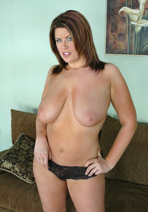 Beauteous MILF Lisa Sparxxx fondling fat melons and shaved pussy