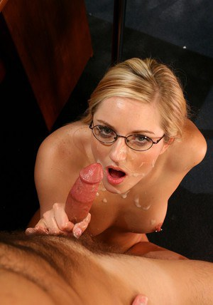 Blond coed in glasses Kylee Reese gets her hot pussy licked and fucked
