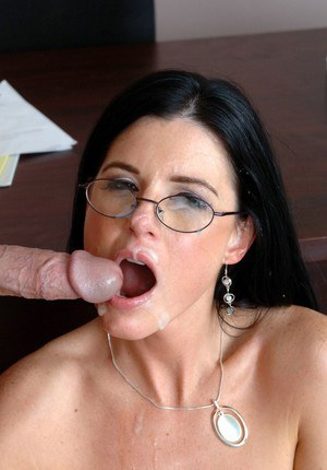 Sultry teacher in glasses India Summer gets a long dick in her ass