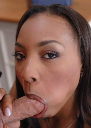 Black office secretary Roxy Reynolds stripped to stockings and banged