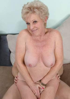 Busty granny Mrs. Jewell got to please two cocks in steamy group action