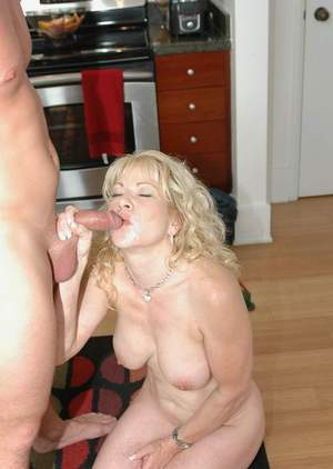 Curly mom with puffy melons Jennifer Janes fucking in the kitchen