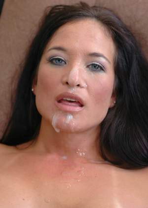 Mature slut Angel Caliente fucked and got a creamy facial cum load