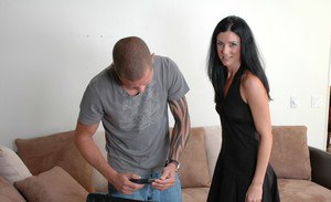 Hot MILF India Summer stripped from panties and bent for penetration