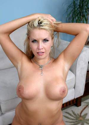 mature blonde with plump tits Angel Cassidy shafted on the white couch