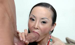 Mature asian lady Ange Venus got her tight pussy hammered hardcore