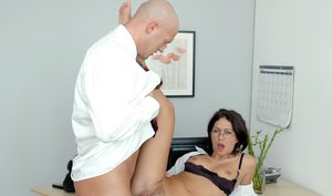 riding hard cock in the office